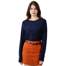 FACTORY OUTLET LO1709-0006 Women Shirt LS - Navy
