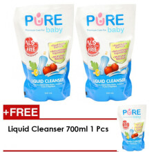 [free ongkir]Pure Baby Liquid Cleanser 700ml Refill Buy 2 Get 3