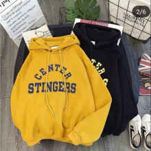 Sweater Hoodie Cewe Center Stingers - Yellow - All Size