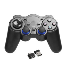 COZIME 2.4GHz Wireless Game Controller Handle Gamepad Joystick With OTG Converter Black