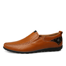 Jantens Men Genuine Leather Shoes Slip On Moccasins Loafers Men Leather Casual Shoes