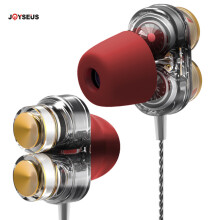 JOYSEUS KD7 Earphones Dual Driver Sport Earphone 3.5mm Jack Headset Hands Free with Mic Music Earphone for All Phone Pc