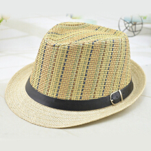 Zanzea 0051Men And Women Color Vertical Breathable Straw Hat Outdoor Travel Sunscreen Beach Hat  Orange