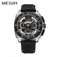Casual Male Watch MEGIR Men Watches Casual Quartz Waterproof Military Chronograph Sport Watch