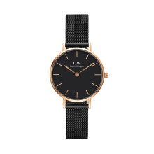 Classic Black Petite Ashfield 28mm Rose Gold Case