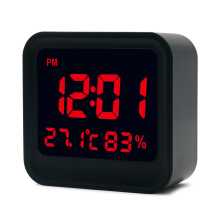 JDWonderfulHouse Loskii HC-20 Digital High Accuracy Thermometer Hygrometer Alarm Clock with LCD Screen Display
