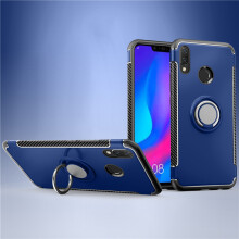 RockWolf Huawei nova 3i case Silicone metal ring shell magnetic bracket soft shell