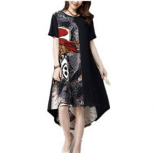 MMIOT Women's Casual Printed Dress - Black
