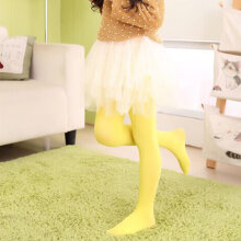 [COZIME] Girls Kids Colorful Candy Footed Stockings Leggings Ballet Dance Tight-Pants Nylon Silk 1