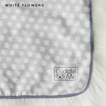 CuddleMe Drypad White Flowers