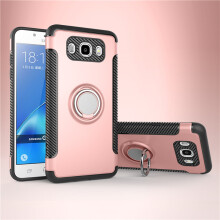 RockWolf Samsung Galaxy J7 2016 case TPU metal ring magnetic mobile phone holder