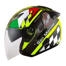KYT Galaxy Slide - Helm Half Face - San Marino GP -Yellow Fluo/Black