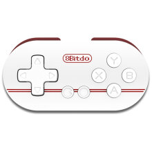 COZIME 8Bitdo ZERO Mini Controller Portable Bluetooth White Wireless GamePad White