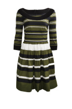 Pre-Owned Prada Vertical Stripes Popeline Dress