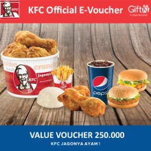 KFC Voucher Value Rp 250.000