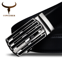 COWATHER New design cow genuine leather strap male belt automatic buckle belts