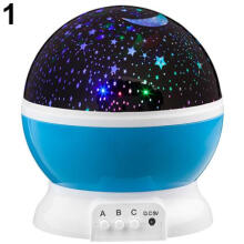 Farfi Rotating Projector Starry Night Lamp 4 LED Light Star Sky Projection
