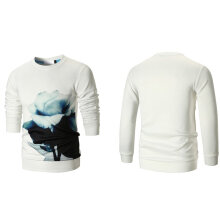 Europe Size 3D printed space cotton men's sweater XDW01 P20 3XL