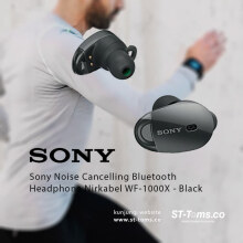 Sony WF 1000X / WF1000X Noise Cancelling Bluetooth Headphone Black