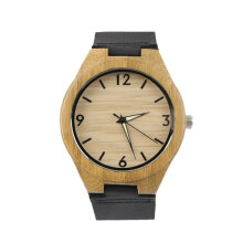 COZIME Vintage wooden dial watch quartz watches Men Women Couple Watch White Pointer Black