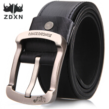 Zdxn men's buckle belt retro fashion pants belt