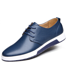 Zanzea Men Leather Flat Outdoor Casual Lace Up Soft Round Toe Oxfords Sneaker Shoes