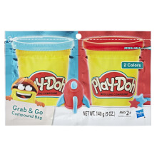 PLAYDOH Grab N Go Compound Bag Blue And Red PDOE2239