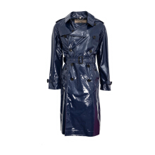 Burberry Laminated Cotton Trench Coat Outerwear