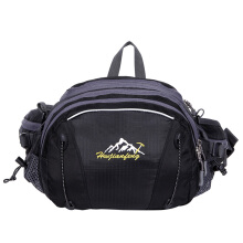 Jantens Waterproof fabric large capacity mountaineering running pockets riding multi-function pockets Black