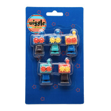 WIGGLE Robot 3D Eraser Set Random Color