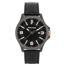 Police PL.15293JSB/02 Men Black Dial Black Leather Strap [PL.15293JSB/02]