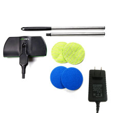 Electric Mop Sweeper Stainless Steel Chargeable Hand Push Sweeper Cordless US plug Black