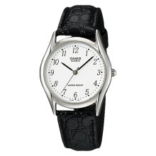 Casio General MTP-1094E-7BDF White Dial Black Leather Strap [MTP-1094E-7BDF]