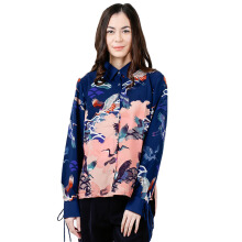 THE EXECUTIVE Women  5-BLWDYN118C018 Blouse -Navy
