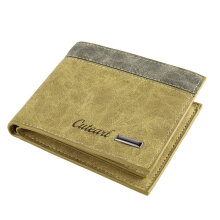 TOWER PRO Multifunctional Soft Wallet Men Short Card Holder Bi-fold PU Clutch Purse Coffee