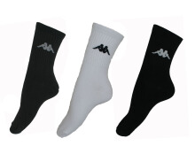 Kappa KS1 Socks 3 Set - Bk/White/Gry Multicolor One Size