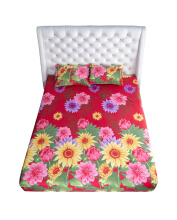 NYENYAK Sunflowers Fitted Sheet - KING/QUEEN