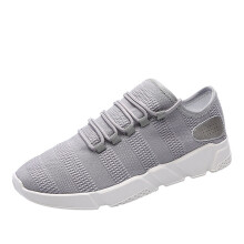 BESSKY Men Ventilation Solid Color Cross Tied Stripe Casual Gym Shoes Running Shoes _