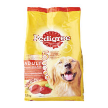 PEDIGREE 1.5 kg adult beef and vegetables flavor
