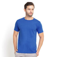 STYLEBASICS Men's Round Neck Basic T-shirt - Pacific Blue