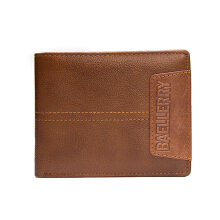 Zanzea Men Short Wallet Genuine Leather Business Multifunction Coin Purse Card Holder Brown
