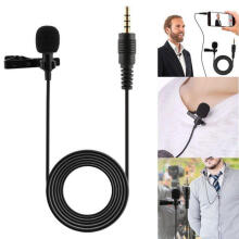 Farfi 3.5mm Clip-on Lapel Microphone Hands Free Wired Condenser Mini Lavalier Mic as the pictures