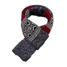 Farfi Fashion Unisex Warm Winter Long Comfortable Patchwork Casual Scarf Wrap Gift Red
