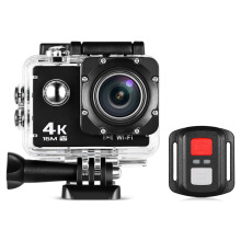 Waterproof Action Camera WiFi Camcorder with Remote Control  - Black