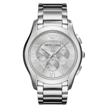 Emporio Armani Valente AR11081 Chronograph Silver Dial Stainless Steel Strap [AR11081]
