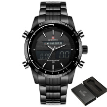 PEKY NAVIFORCE Men Fashion Sport Watches Men's Quartz Digital Analog Clock Man Full Steel Wrist Watch