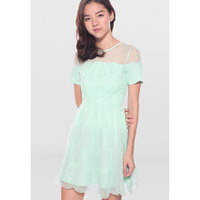 LOVE BONITO Covet Trinette Tulle Dress - Mint - XS