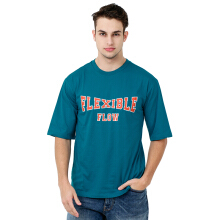 FACTORY OUTLET UG1802-0010 Mens T-Shirt With Print - Blue