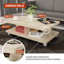 Pro Design Small Table LEA-SONOMA OAK (LEACT)