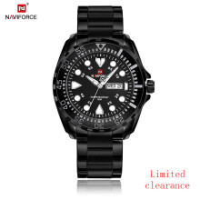 NAVIFORCE Luxury Brand Men Sport Watches Mens Quartz Analog Clock Man Military Waterproof Full Steel Watch Men